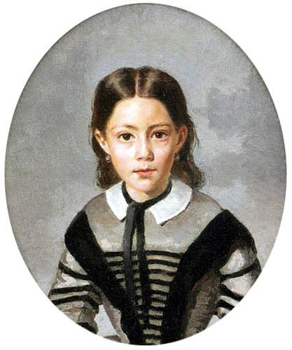 Jean-Baptiste Corot - Louise-Laure Baudot mit 9 Jahren