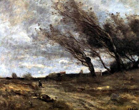 Jean-Baptiste Corot - Rafale de vent
