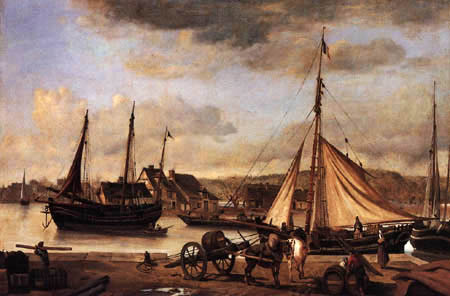 Jean-Baptiste Corot - Le port externe de Rouen