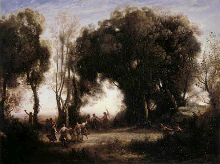 Jean-Baptiste Corot - Ein Morgen, Tanz der Nymphen
