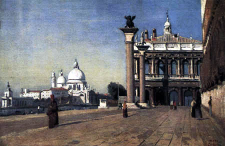 Jean-Baptiste Corot - Morgen in Venedig