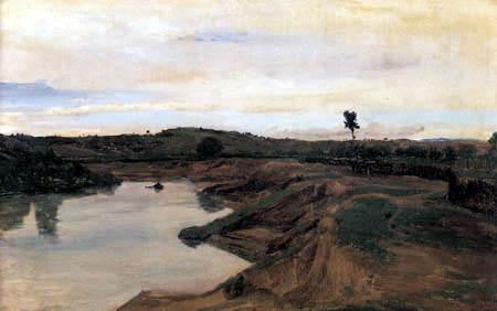 Jean-Baptiste Corot - Der Weg von Poussin, Römische Landschaft