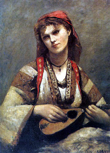 Jean-Baptiste Corot - Gypsy with a Mandolin