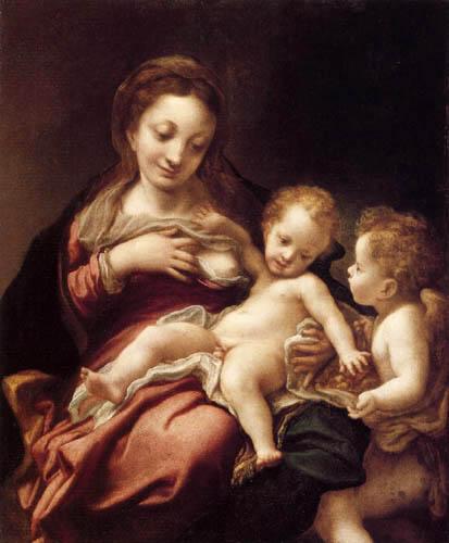 Antonio Allegri Correggio - Maria mit dem Kind