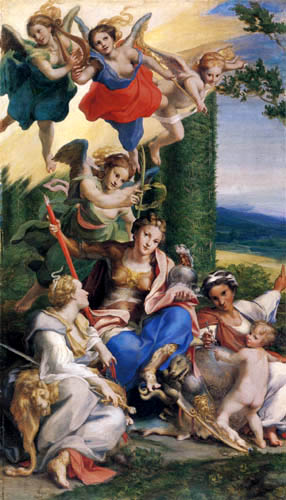 Antonio da Correggio - Allegorie of the virtue