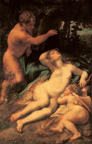 Antonio da Correggio - Venus, Satyr and Cupid