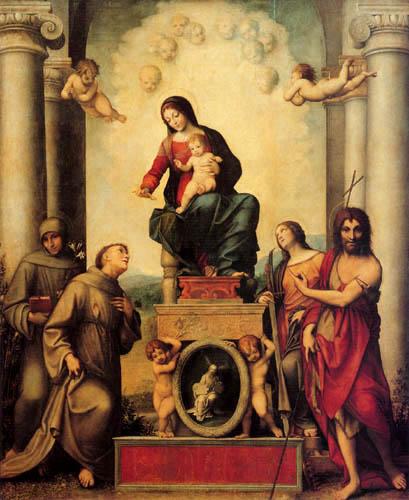 Antonio da Correggio - Madonna with child