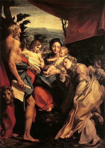 Antonio Allegri Correggio - Madonna mit Kind
