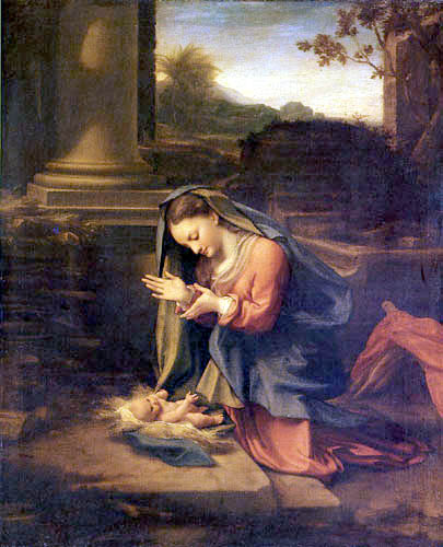 Antonio da Correggio - The Adoration of the child