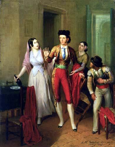 Ángel María Cortellini y Hernández - The parting of the torero