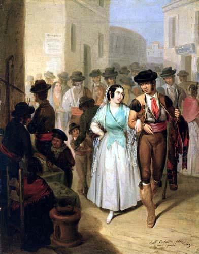 Ángel María Cortellini y Hernández - Salida de la plaza