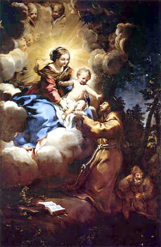 Pietro da Cortona - The vision of the St. Francis