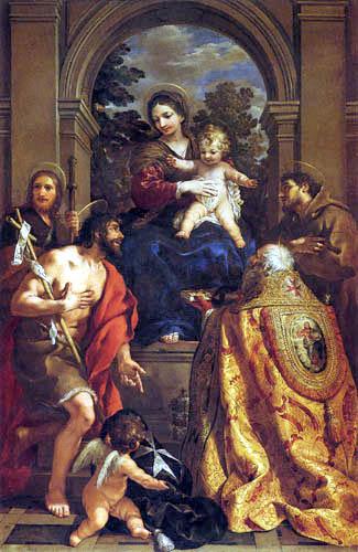 Pietro da Cortona - La Vierge avec des saints