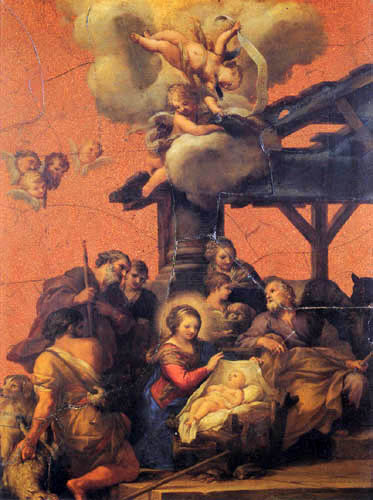 Pietro da Cortona - The birth of Jesus, The Adoration of the Shepherds