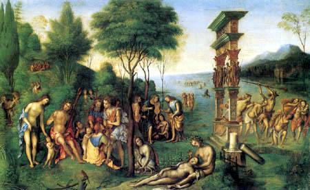 Lorenzo Costa - The Government of God Comus