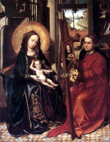 Colijn de Coter - Luke Painting the Virgin