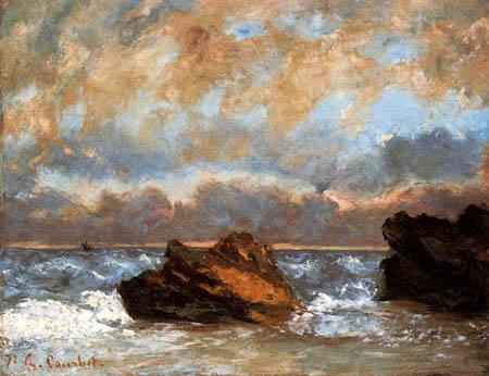 Gustave Courbet - Kleines Seestück