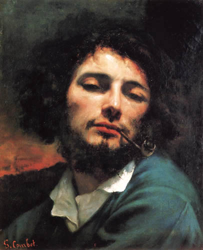 Gustave Courbet - Selfportrait with pipe