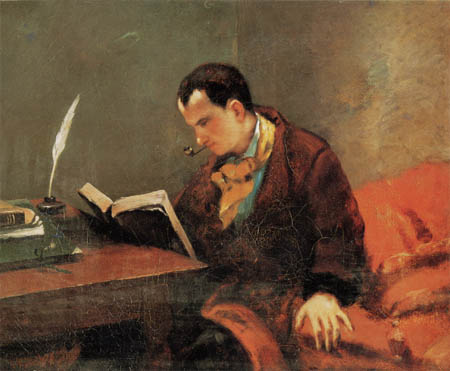 Gustave Courbet - Portrait of Charles Baudelaire