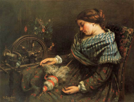 Gustave Courbet - Die schlafende Spinnerin