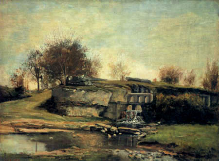 Gustave Courbet - The watergate of Optevoz