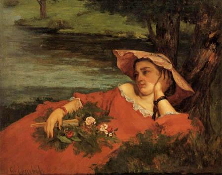 Gustave Courbet - Mädchen am Seineufer