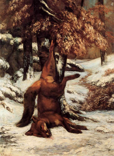 Gustave Courbet - Hunted fox
