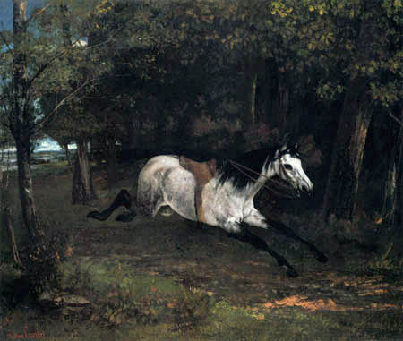 Gustave Courbet - Horse bolting