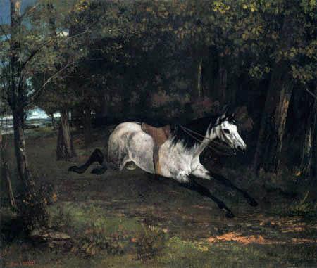 Gustave Courbet - Durchgehendes Pferd