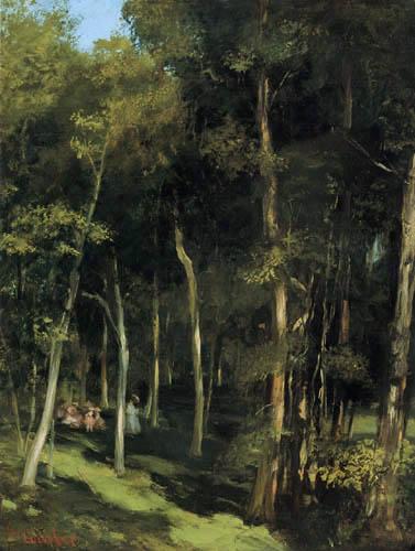 Gustave Courbet - Im Wald von Port-Berteau