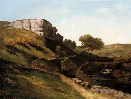 Gustave Courbet - Landscape near Maisieres