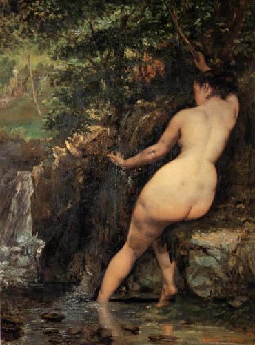 Gustave Courbet - Badende an einer Quelle