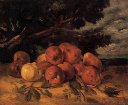 Gustave Courbet - Still life with apples
