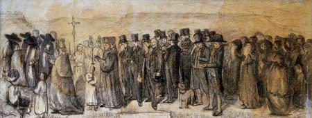Gustave Courbet - Un entierro en Ornans