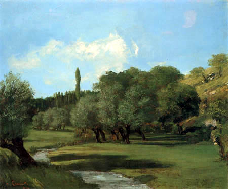 Gustave Courbet - Landscape near Indre