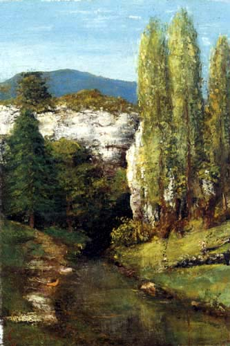 Gustave Courbet - The Loue in the Jura Mountains