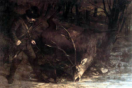 Gustave Courbet - The death of the deer