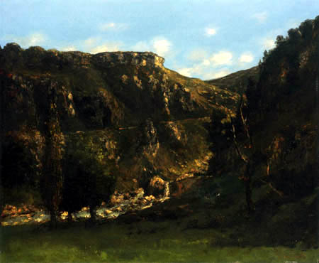 Gustave Courbet - The Loue valley near Ornans