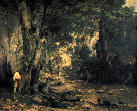 Gustave Courbet - Deer Refuge