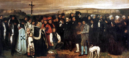 Gustave Courbet - Funeral in Ornans