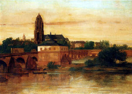 Gustave Courbet - View at Frankfurt on the Main
