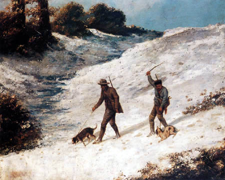 Gustave Courbet - Hunters in the snow