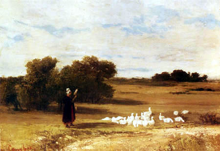 Gustave Courbet - Goosegirl