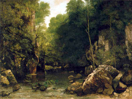 Gustave Courbet - The black well