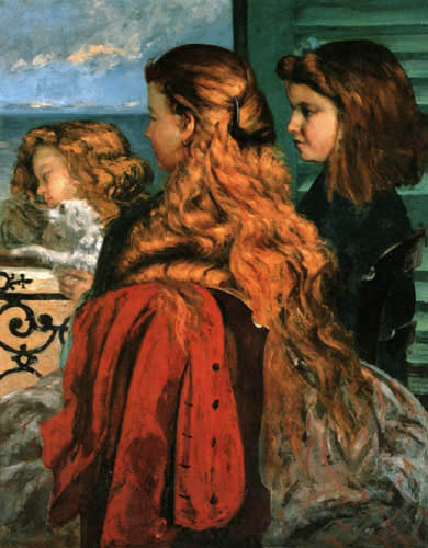 Gustave Courbet - The three British women at the window