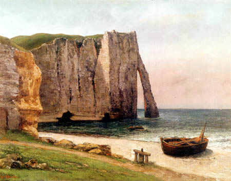 Gustave Courbet - Rocks near Étretat