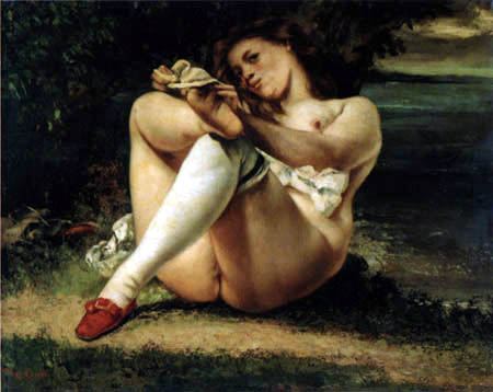 Gustave Courbet - The woman with the white stockings