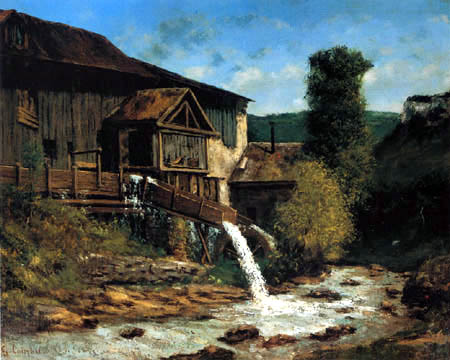 Gustave Courbet - The sawmill in Gauffre