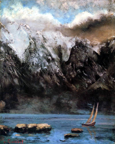 Gustave Courbet - The Lake Leman and the peak Grammont