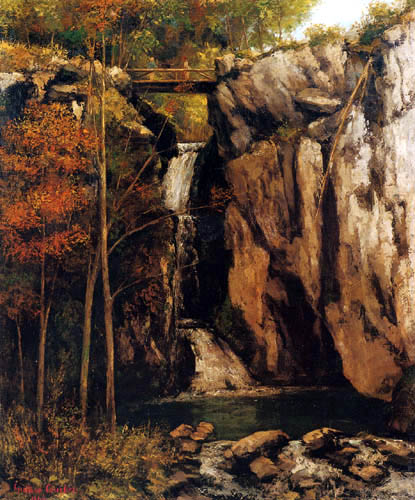 Gustave Courbet - Waterfall